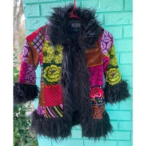 The children's place printed winter  jacket 🧥